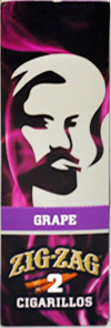 ZIG ZAG CIGARILLO WRAP GRAPE 15-2PKS