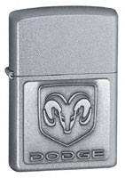 ZIPPO DODGE RAM EMBLEM - SATIN CHROME