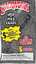 BACKWOODS BLACK and SWEET (5 PACKS OF 8 CIGARS)