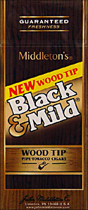 BLACK and MILD WOOD TIP CIGARS 25CT BOX