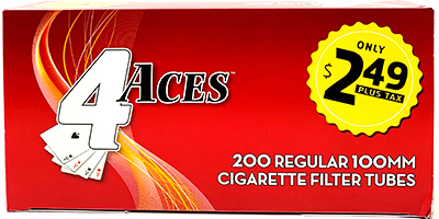 4 Aces Red 100 Cigarette Tubes 200ct