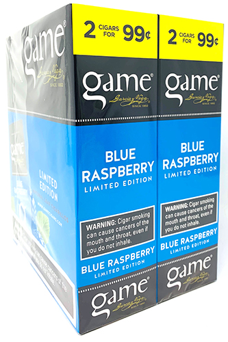 Game Cigarillos Blue Raspberry 30ct
