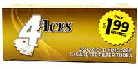 4 Aces Gold King Size Cigarette Tubes 200ct
