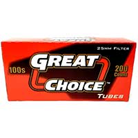 Great Choice Cigarette Tubes Full Flavor 100