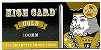 High Card Gold 100 Cigarette Tubes 250ct