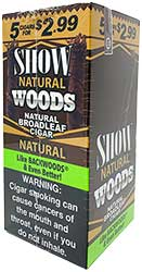 Show Woods Natural Cigars 8 5pks