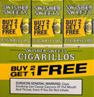 SWISHER SWEETS CIGARILLOS FOIL WHITE GRAPE 30 3PKS