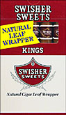 SWISHER SWEETS KINGS (NATURAL LEAF) 10 5 PKS