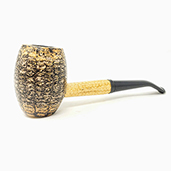 Missouri Meerschaum Corn Cob Pipe Country Gentleman Bent