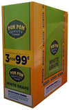 Pom Pom Cigarillos White Grape 15ct 3 .99c