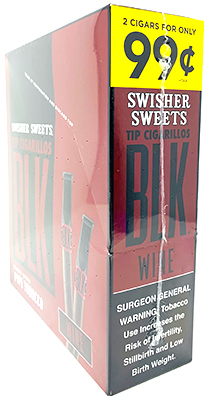 Swisher Sweets BLK Wine Tip Cigarillos