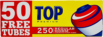 Top Cigarette Tubes Full Flavor 100 250ct