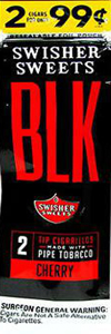 Swisher Sweets BLK Cherry Tip Cigarillos 2 $0.99 15 2Ct Box